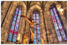 St-Theodul | Sion (christianmeichtry) Tags: windows church switzerland ancient europe christ cross jesus crucifix wallis sion valais altair diamondclassphotographer detallessculpturalandaechitecturaltreasures
