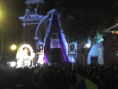 Señor de los Milagros en Plaza de Barranco