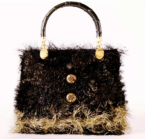 Prudence: black & gold bag