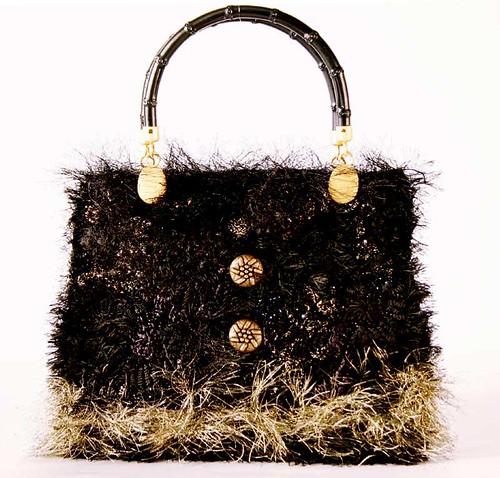 Prudence: black & gold bag