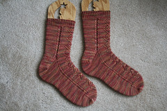 Lace and Cable Socks 112507