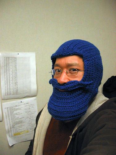 hat beard diy crochet homemade skimask winterwear bluebeard beardhat