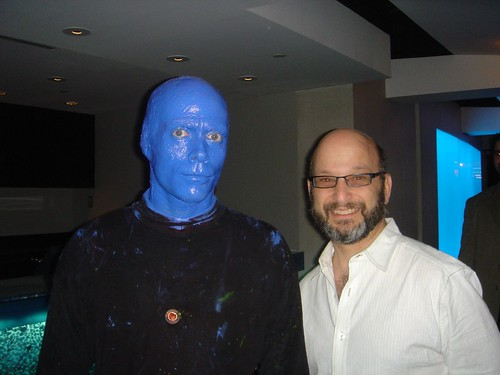 Alan K'necht with a Blue Man