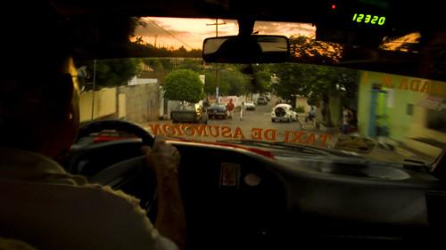 En el coche, rumo ao puerto