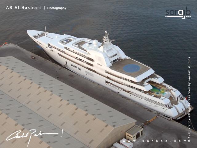 Sheikh Mohammed Bin Rashid biggest yacht by saraab