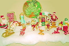 Fawnd of Christmas (boopsie.daisy) Tags: santa christmas decorations cute angel mailbox vintage reindeer snowman candles kitsch deer wreath fawn fawns decor candycanes hollyhobbie carolers fauxsnow thankyoumum