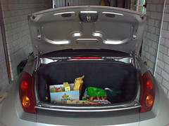 Offener Kofferraum