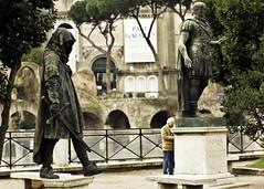 Falso d'autore (GaAs ) Tags: streetart roma statue fuji statua gaas false fori imperiali s5 falso