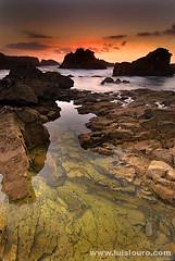 Cabo Raso (Lus Louro) Tags: sunset sea sky sun seascape portugal water clouds landscap