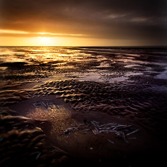 The Ends Of The Earth (BarneyF) Tags: sunset reflection beach water ripple southport merseyside blueribbonwinner 3exp mywinners superaplus aplusphoto