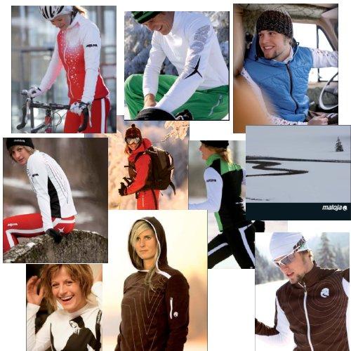 Para tiendas de deportes: ropa deportiva Maloja. Temporada invierno 2008/2009