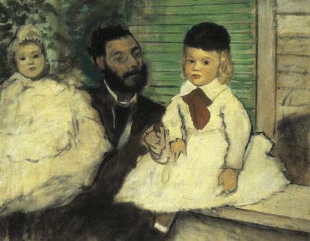 Count Lepic and Duaghters by Degas
