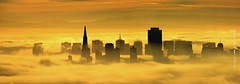golden city sunrise, san francisco fog (louie imaging) Tags: sf sanfrancisco california city morning bridge light sky usa fog modern america sunrise lost gold dawn golden bay gate san francisco day cityscape dusk contemporary foggy sunny panoramic inversion temperature siloutte fogcity sanfranciscoskyline sanfranciscofog fogscape foggycity californiafog sffog cityfog duskfog skylinefog cityinfog