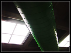 green pipe (2) (PROD) Tags: green library pipe grn bochum rohr ventilation stadtbcherei lftung