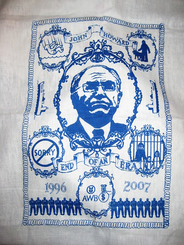 John Howard - End Of An Era - tea towel