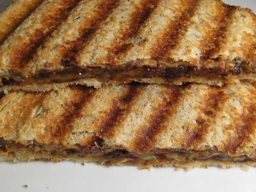 white chocolate peanut butter panini