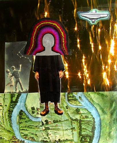 LARRY CARLSON, collage on paper, 12inX10in, 2010.