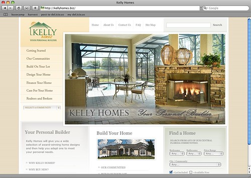 Kelly Homes Web Site