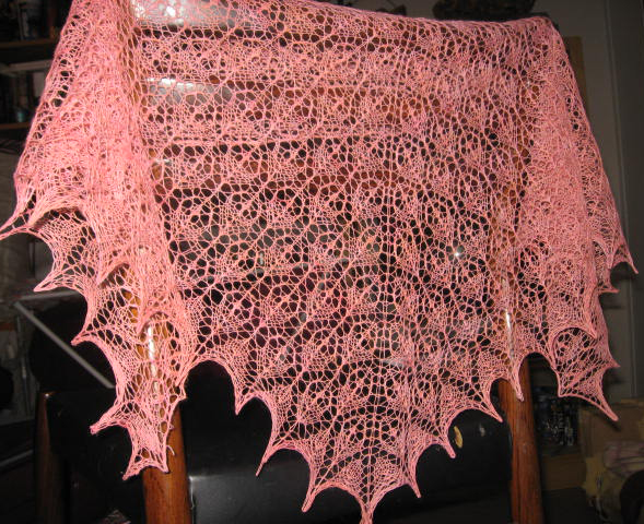 Flower basket shawl