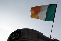 Irish flag at 4 P's