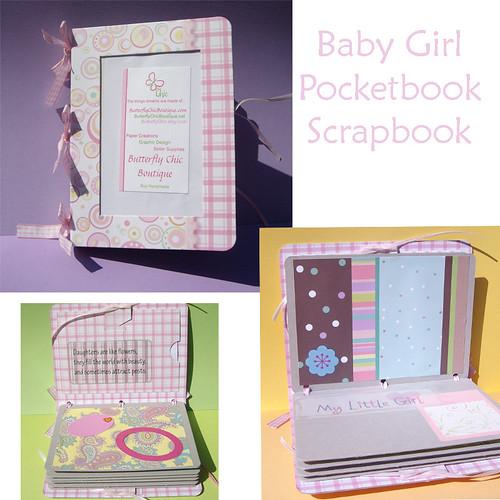 Baby Girl Pocketbook Scrapbook ButterflyChic