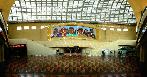 Union Station in Los Angeles, California, USA