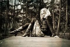 On the gangway (besimo) Tags: woman nature forest photoshop nikon natur wald spaziergang lightroom iloveher 35mmf20 nikond80 julitta projekt365 portrt besimmazhiqi