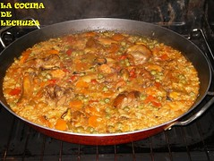 Paella mixta horno