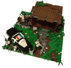 Shootout 1 (Battledog) Tags: crazy lego diorama gunfight maniac shootout moc vig