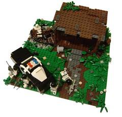 Shootout 1 (Battledog) Tags: crazy lego diorama gunfight maniac shootout moc vig