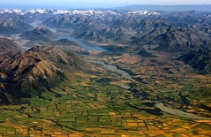 Canterbury plains landscape, New Zealand (Kenny Muir) Tags: new landscape island south canterbury aerial zealand plains
