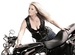 Woman Harley (cloudchaser32000) Tags: woman dan girl leather accident harleydavidson motorcycle amputee eckert