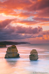 Australia :: Great Ocean Road (-yury-) Tags: ocean sunset sea sky cliff seascape beach nature water clouds sunrise canon landscape photography australia victoria 5d vic greatoceanroad twelveapostles gibsonsteps