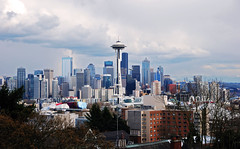 Hello Seattle (WorldofArun) Tags: seattle urban storm film rain ferry skyline architecture skyscraper docks harbor washington downtown artist gloomy view northwest queenanne overcast neighborhood explore transportation mountrainier april pacificnorthwest spaceneedle pugetsound kerrypark thunderstorm elliottbay bainbridge bainbridgeisland finale peninsula westcoast volcanic cascade thunder hdr episode queenannehill downtownseattle worldfair 10thingsihateaboutyou amazingrace 1927 cascaderange 18200mm washingtonstateferries photomatix steelsculpture wsdot nikond40x cascadevolcanicarc worldofarun westseattlepeninsula doristottenchase hoveringdisk arunyenumula albertsperrykerrysr