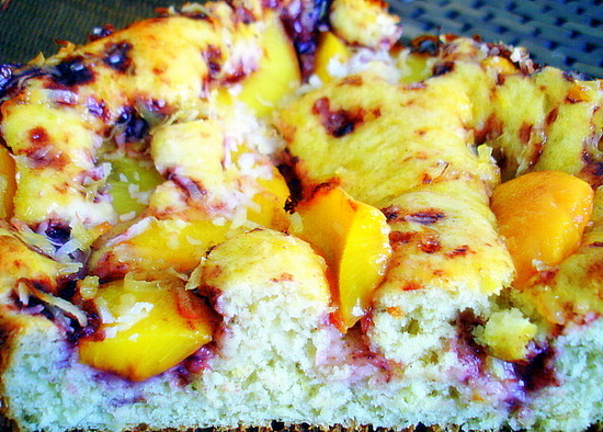 Peach-Coconut Cake