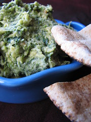 Spinach and Toasted Pinenut Hummus
