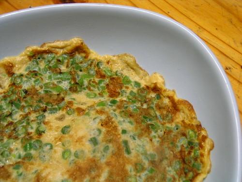 Green beans omelette