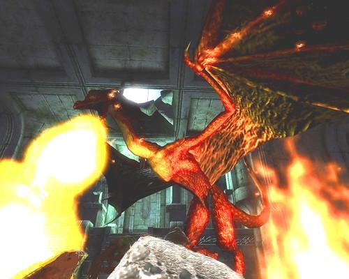 ドラゴン炎の息