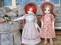 Ambroisie and Gianduja (biscuitbear) Tags: hat toy doll bisou bjd bonbon customhouse shushu ambroisie gianduja