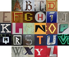 Straight lined letters