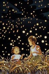 """Why do fireflies die so young?"" (EL/SUPER/TAI) Tags: anime grave no tumba ghibli haka fireflies hotaru luciernagas"