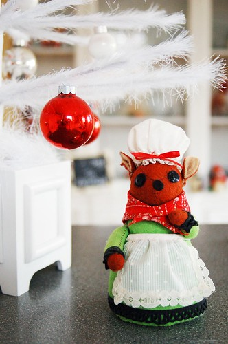 Little christmas mouse.