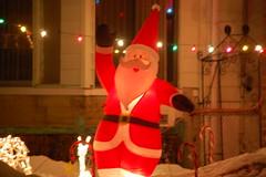 wave to santa