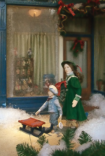 Macy's Department Store, in Saint Louis, Missouri, USA - Window Christmas display 2
