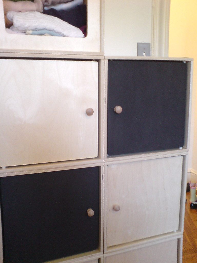 repainted Via Toy Box doors, now with chalkboard paint