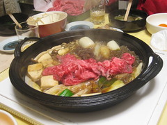 Sukiyaki with meat