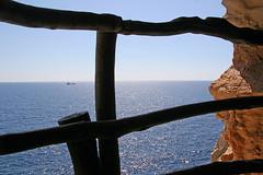 sea of tranquility (Sabinche) Tags: sea fence interestingness spain mediterranean ship menorca sabinche minorca balearicislands interestingness45 abigfave