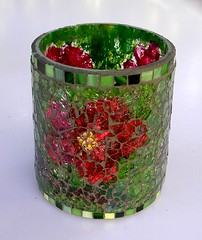 Glass vessel (stiglice - Judit) Tags: mosaic mosaique mozaiek mozaik temperedglass