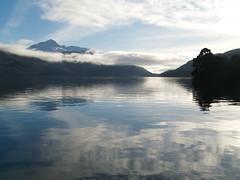 lomond heartbeat (werewegian) Tags: blue sky mist lake reflection water scotland ben january lochlomond jan08 werewegian
