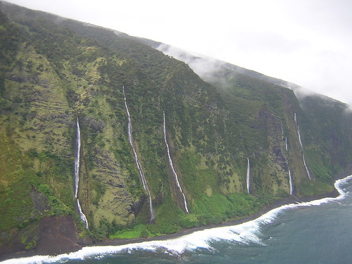 Waterfalls along the Kohala Cliffs